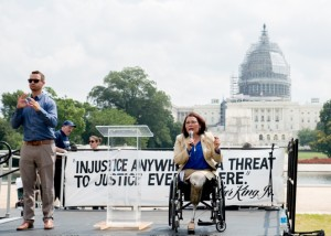 Tammy Duckworth delivers remarks at NCIL's 2015 Rally at the Capitol