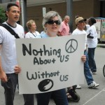 Nothing About Us Without Us 2012 sign