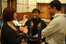 NCIL Members and Staff Chat at the 2012 Conference