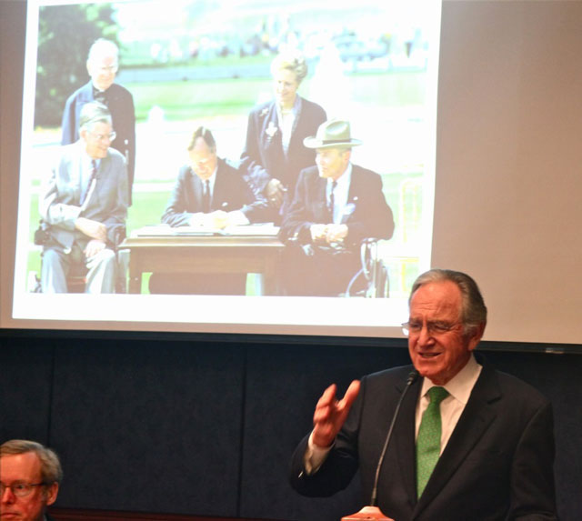 Tom Harkin speaks at the 2012 Congressional Reception