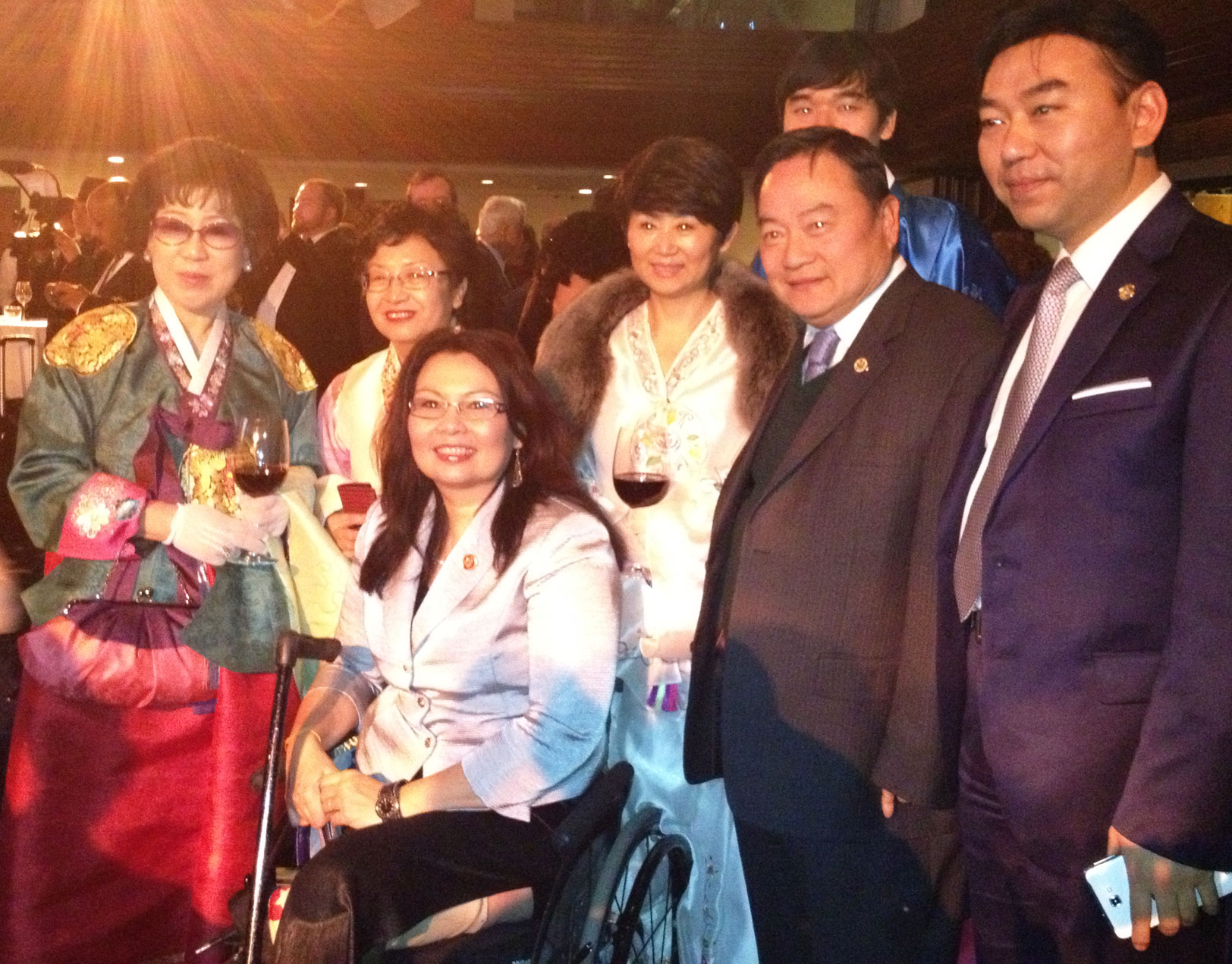 Tammy Duckworth and friends at the 2013 Inaugural Ball