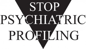Stop Psychiatric Profiling Logo - Black Triangle