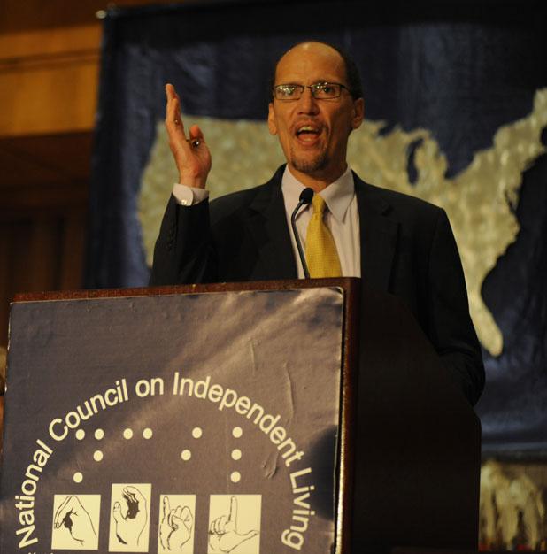 Tom Perez addresses the NCIL membership 2010