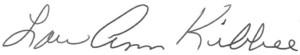 Lou Ann Kibbee Signature