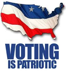 Voting is Patriotic - America + Flag