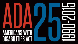 ADA25 Logo: Americans with Disabilities Act, 1990-2015 - Description: ADA25 Logo: Americans with Disabilities Act, 1990-2015