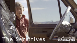 The Sensitives Kickstarter - bit.ly/SensitivesDoc - A women opens the door to a van covered in aluminumm foil inside