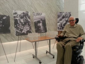 David Burds at a photo exhibit on the disability rights movement