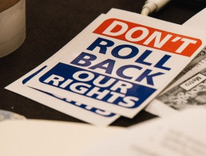 Don't Roll Back Our Rights Stickers