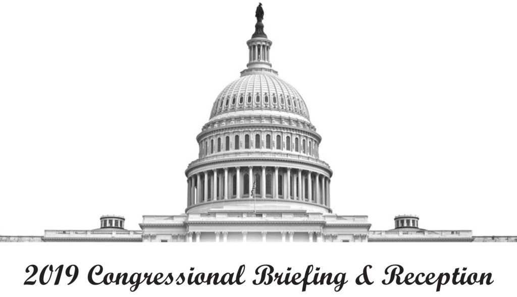 2019 Congressional Briefing and Reception Logo features a drawing of the Capitol Rotunda