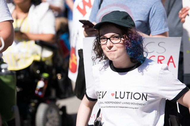 Eiryn Griest-Schwartzman participates in the NCIL 2017 March to the Capitol.